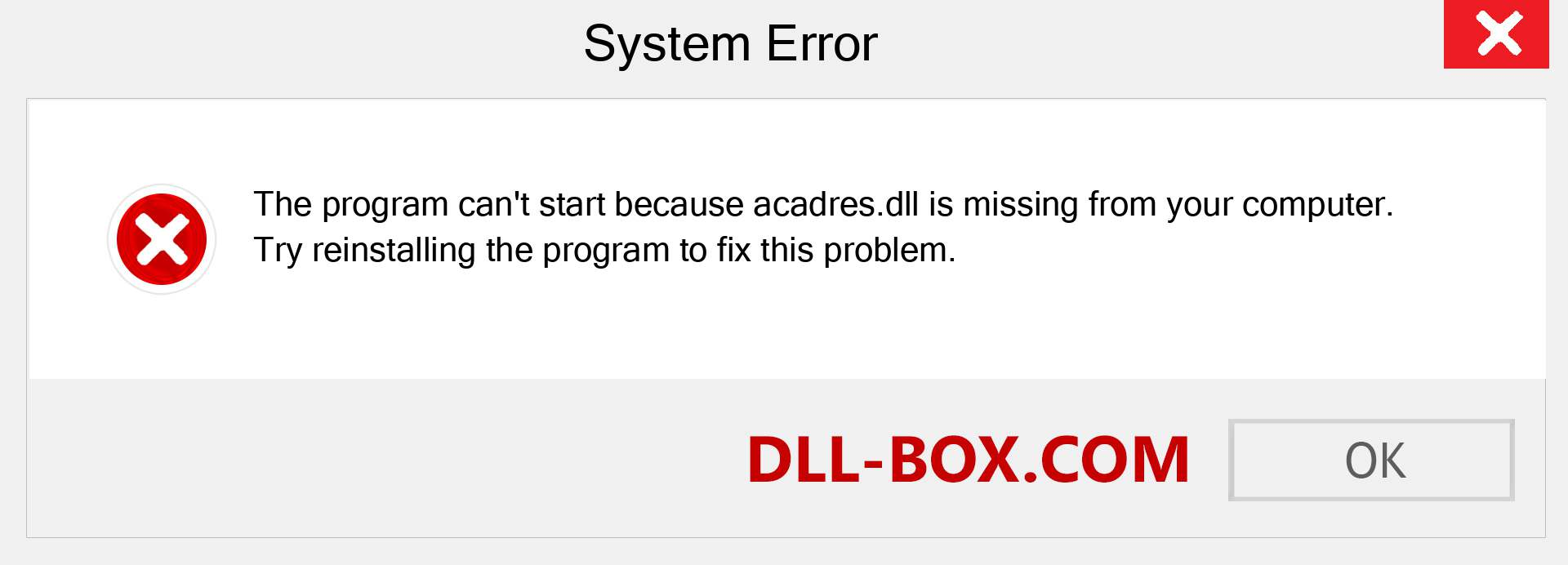 acadres.dll file is missing?. Download for Windows 7, 8, 10 - Fix  acadres dll Missing Error on Windows, photos, images